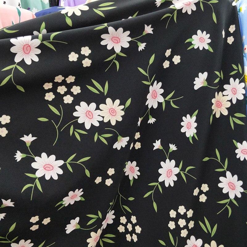 Nova daisy terno calças vestido chiffon tecido elástico vestido cachecol camisa saia e calças de tecido