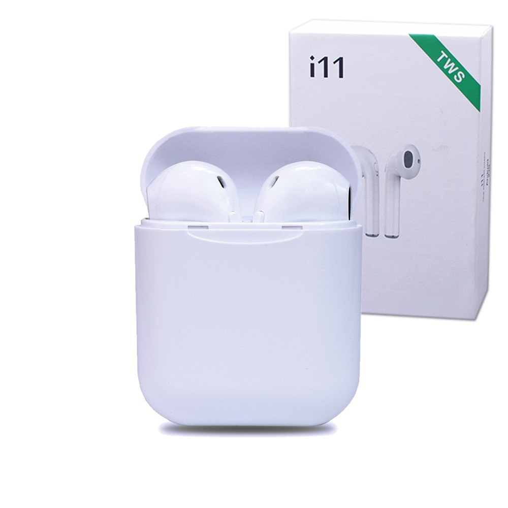 i11 wireless Bluetooth headset TWS two ear call 5.0 stereo audio charging bin wireless earphones