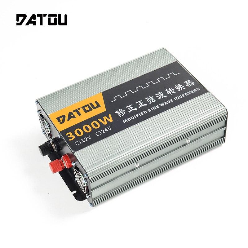 3000W Conversor de Voltagem DC 12V A 220V AC Modificado Onda Senoidal Inversor Transformador Portátil Automotivo Auto Acessórios