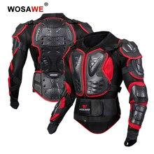 Армированная куртка WOSAWE для мотокросса, нагрудная защита для езды на мотоцикле и кроссовых велосипедах, полноразмерная защита для спины и плеч, для взрослых