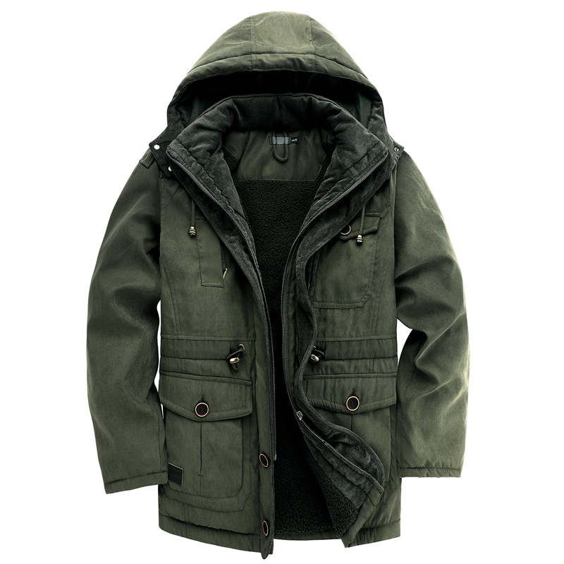 LUCLESAM зимняя мужская теплая флисовая куртка с капюшоном, мужские повседневные утепленные парки, Мужская модная пуховая куртка, мужские курт...