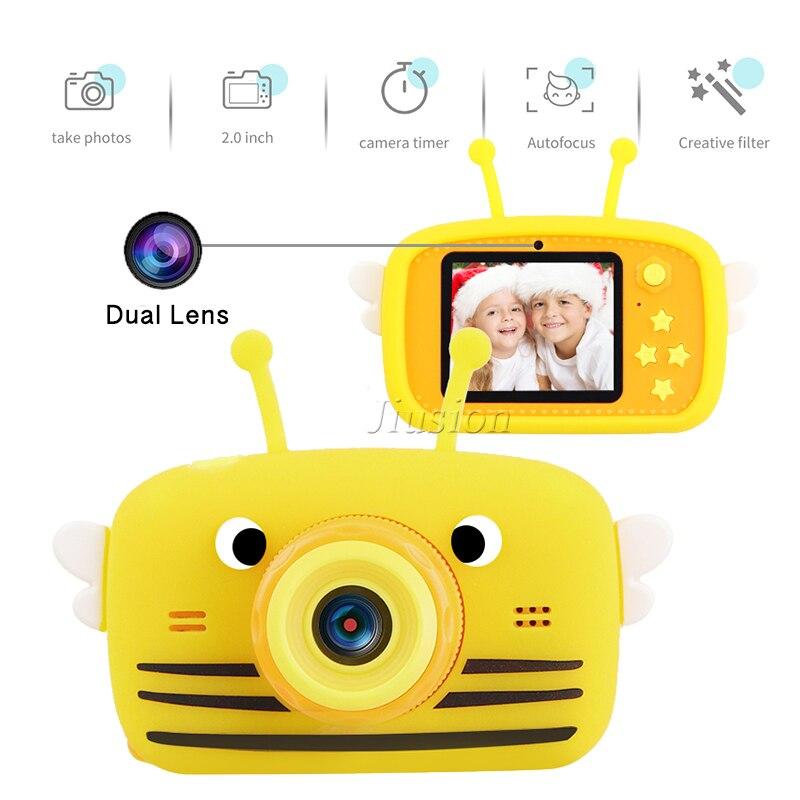 Minicámara de doble lente para niños, 1080P, vídeo Digital, foto, Vlog, cámaras...