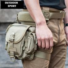 Bolsa militar para la cintura, bolsa para la pierna al aire libre, bolsa táctica militar a prueba de agua Oxford 800D para viajes y motociclismo