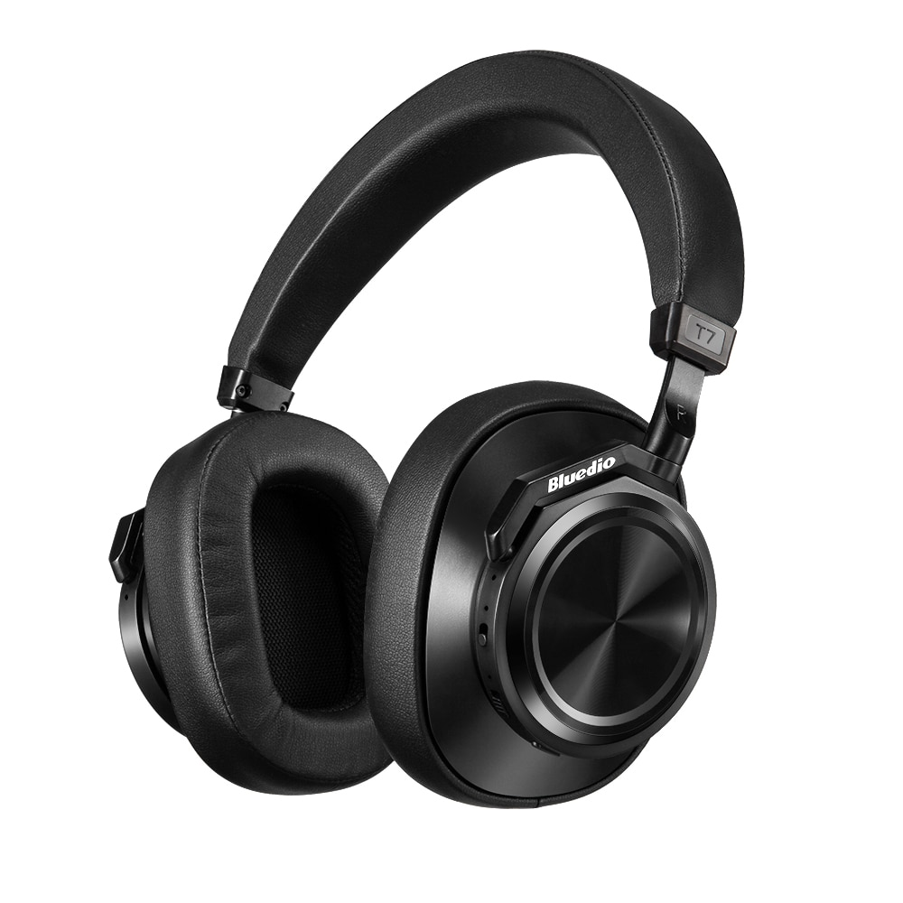 Bluedio Active Noise Cancelling Wireless Bluetooth Headphones T7 Portable Headset with Face Recognition for Phones and Music