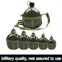 genuine thickened flat kettle outdoor military pot aluminum mountaineering military training large capacity military training