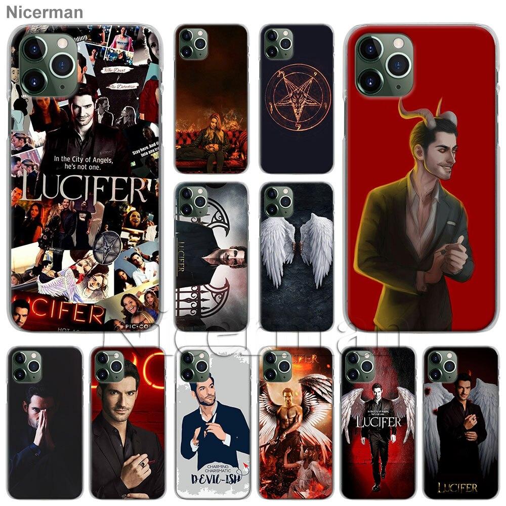Serie de TV Lucifer teléfono funda de carcasa para Apple iPhone 11 Pro Max SE 2020 X XR XS MAX 7 7 6 6s Plus 5S cubierta Coque