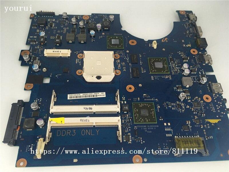 Yourui لسامسونج NP-R525 R525 Laptopmotherboard BA92-06827A BA92-06827B BA41-01359A DDR3 اختبار