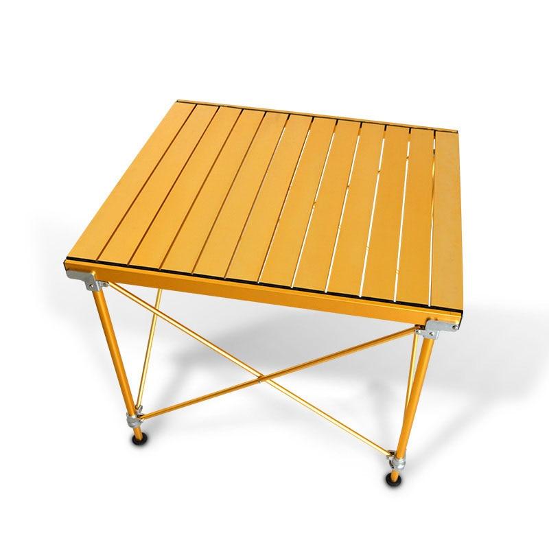 Mesa de Camping Plegable de aluminio para exteriores, suministros para Picnic, barbacoa,...