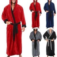mens plain casual baggy bathrobe bath robe dressing gown lace up loungewear sleepwear