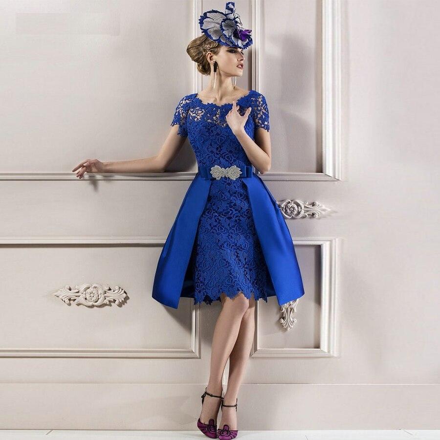 Vestidos modestos de encaje azul real para madre de la novia, Vestidos...