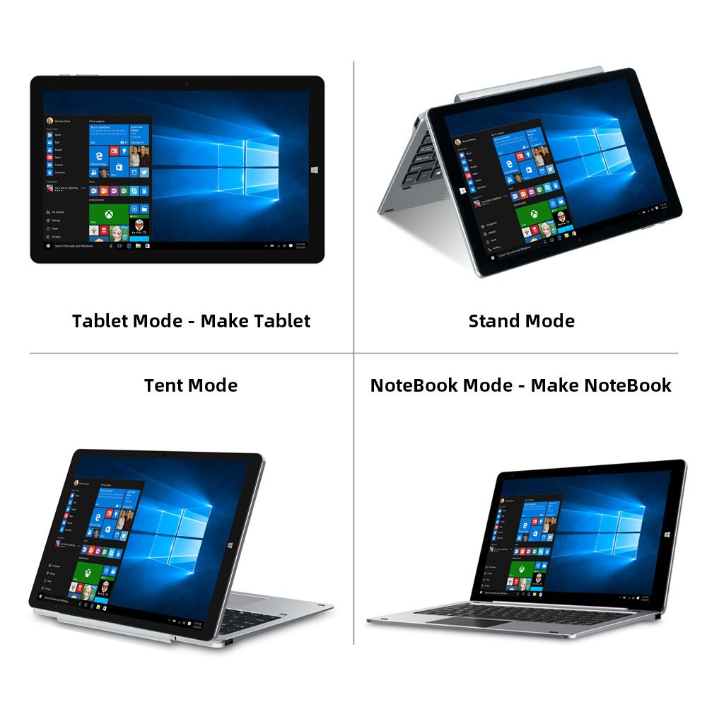 CHUWI Hi10 X 10.1 Inch Windows 10 Tablet 1920x1200 IPS 6GB RAM 128GB ROM Intel Celeron Dual Band Wifi Tablet PC Type-C