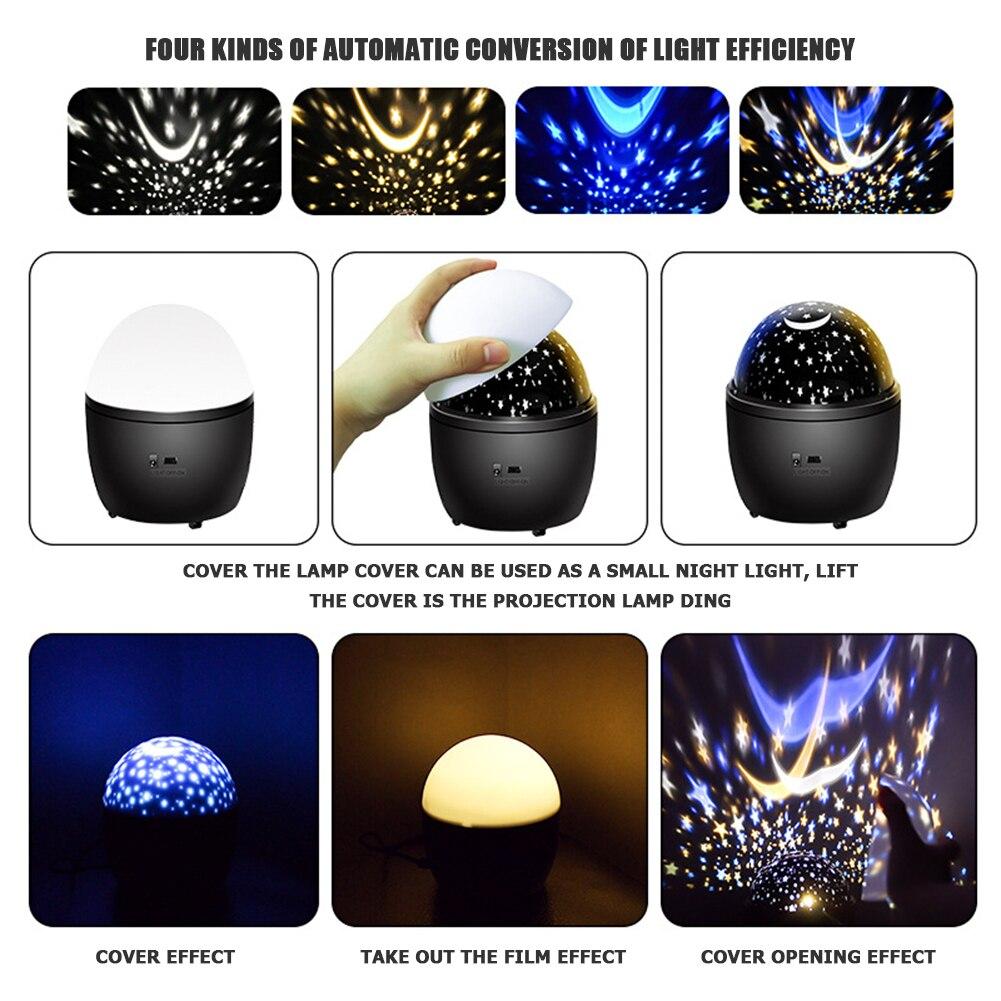 LED Projection Lamp USB Charging Landscape Laser Decorative Lamp Children Bedroom Star Night Lamp for Festival enlarge