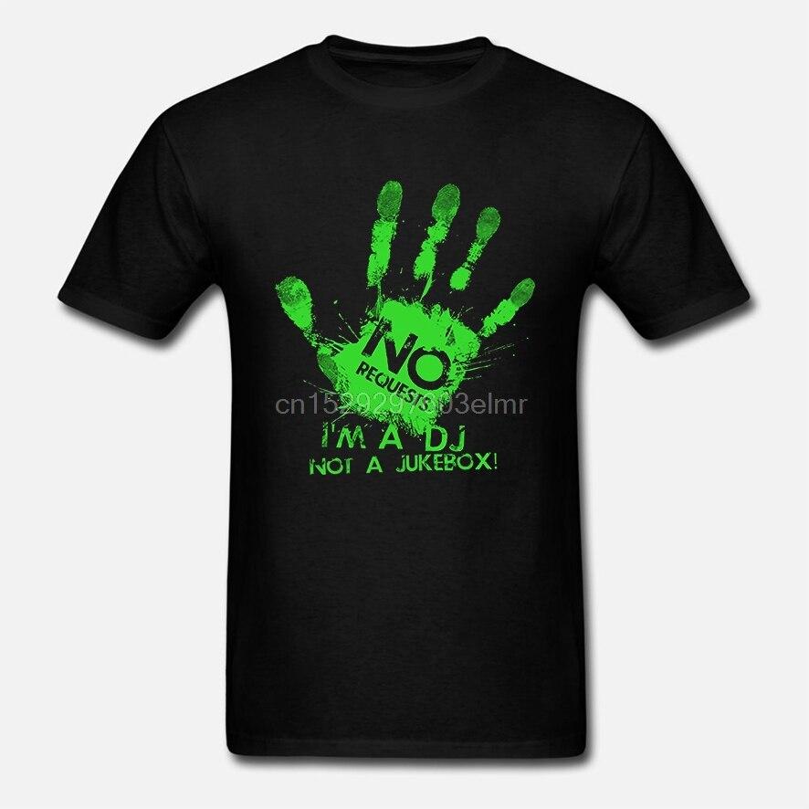 Camiseta divertida para hombre, camiseta blanca, camiseta negra, camiseta para hombre, No Request soy un DJ, No una camiseta de música