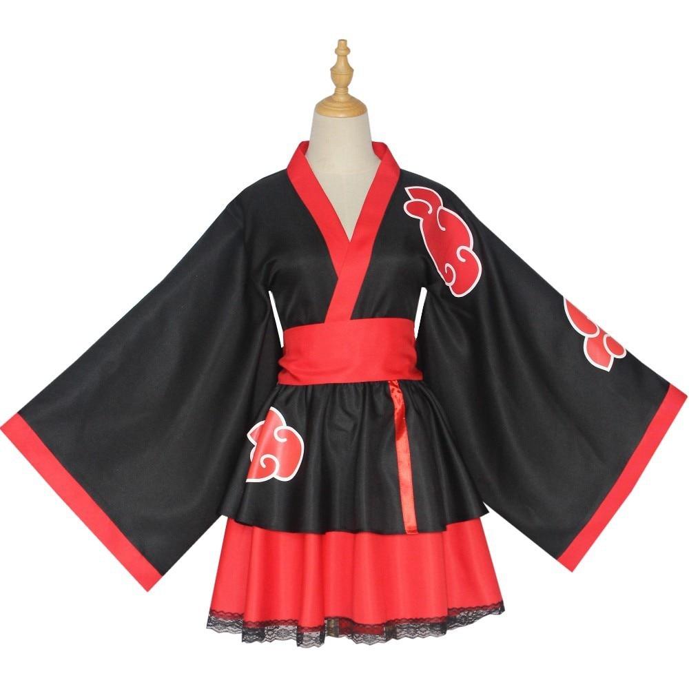 Akatsuki Shippuden Uzumaki نارو إلى هيناتا كاكاشي ساسوكي أنثى لوليتا كيمونو فستان أنيمي تأثيري حلي لل ملابس حريمي