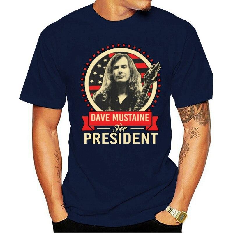 2021 moda t camisas dave mustaine dave mustaine para presidente o pescoço 100% algodão