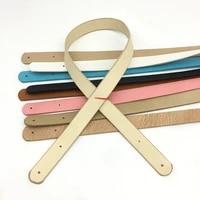 10pcs pu handbag straps diy woven bag handles handmade bag accessories parts shoulder bag wrist replacement sewing holes 62cm