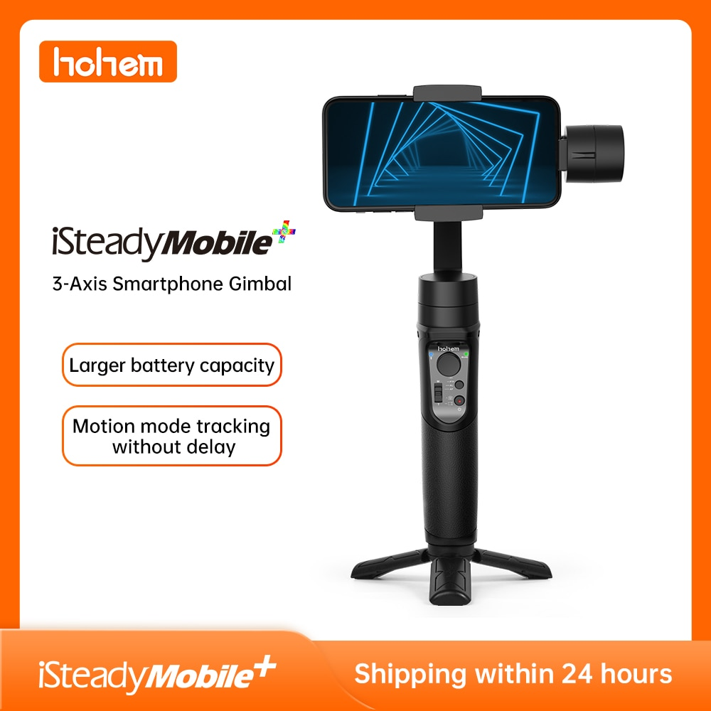 Get Hohem Smartphone Gimbal iSteady Mobile Plus 3-Axis Handheld Stabilizer for iPhone 11 X 8 7 6& Huawei& Xiaomi Smartphone