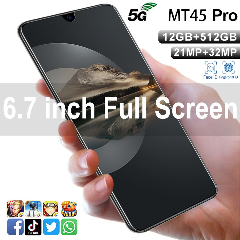 mobile phoneMT45 Pro smart phone 6.7-inch large screen 2+16 explosive Android phone mobile phone accessories