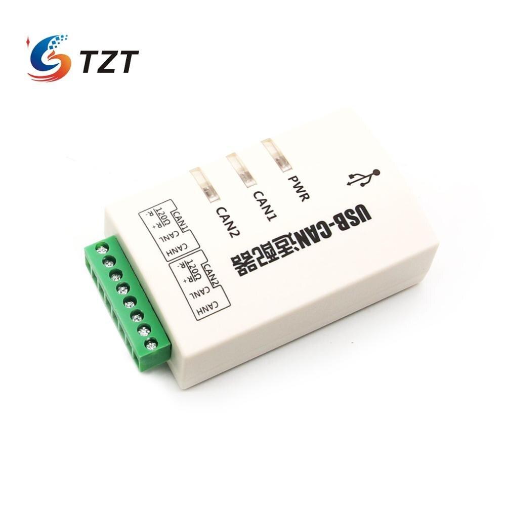TZT USB a CAN Adaptador convertidor Dual-Canal tarjeta de interfaz USB-CAN-2A