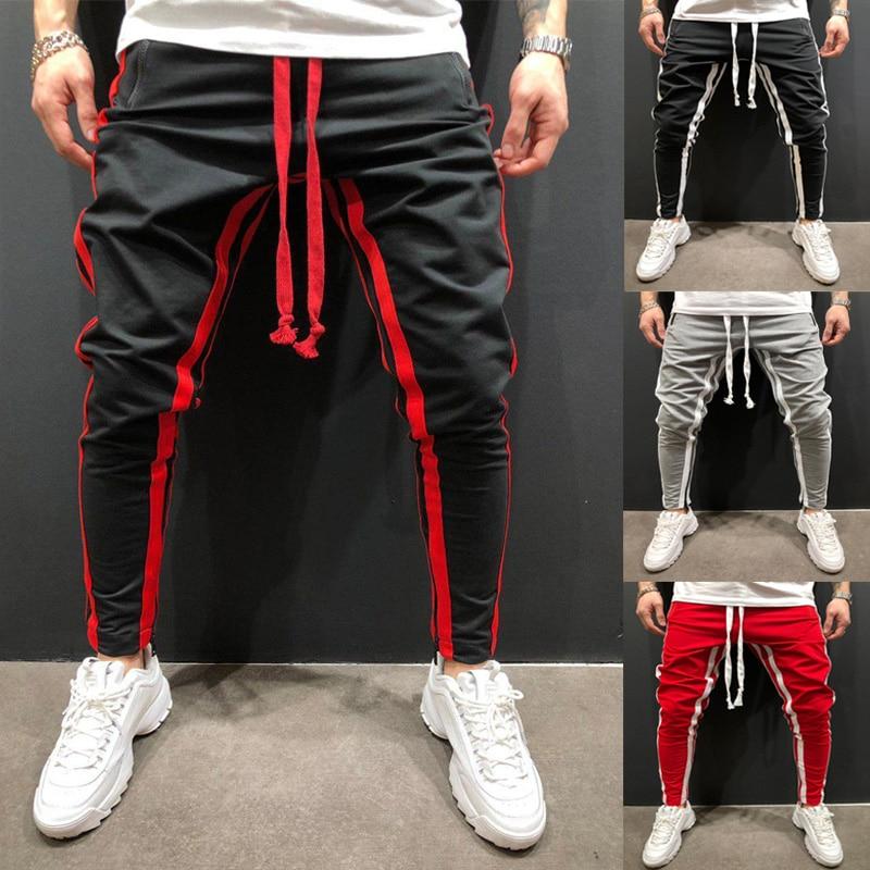 Pantalones de lápiz con cremallera de costura de Fitness Casual Hallen para hombres nuevos Pantalones deportivos de pie pequeño pantalones jogger de moda Pantalones de Fitness para correr