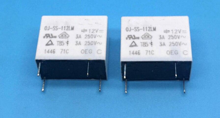 4 pçs/lote OJ-SS-112LM 12VDC 0J-SS-112LM original novo