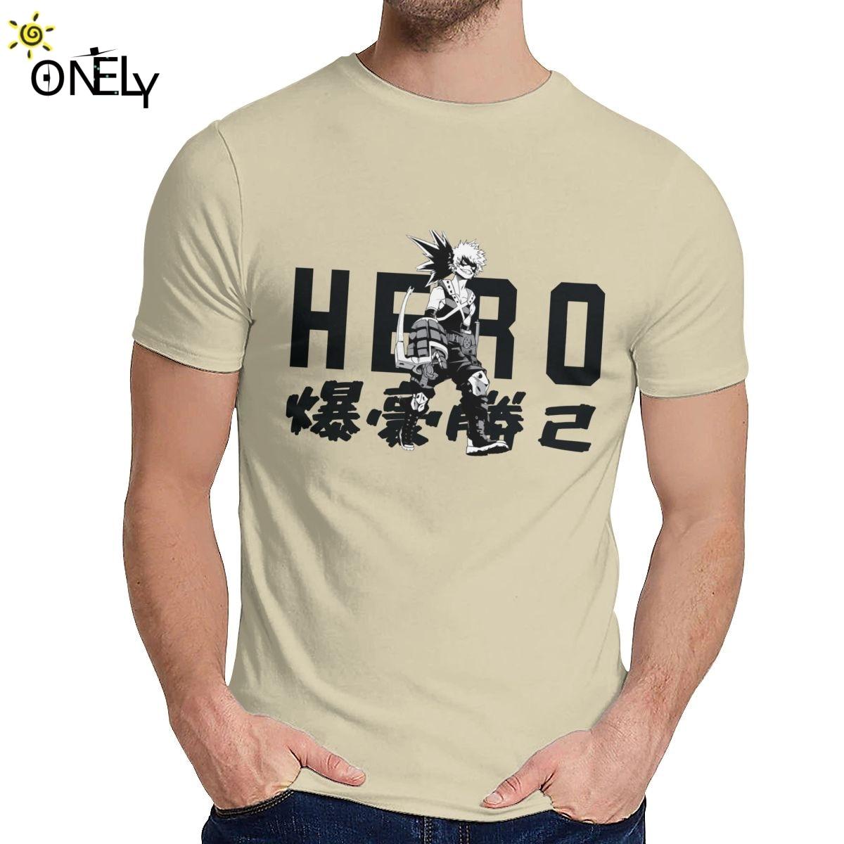 Camiseta Katsuki Bakugo, Camiseta informal para hombre de My Hero Academia, Camiseta suave de La talla grande para hombre