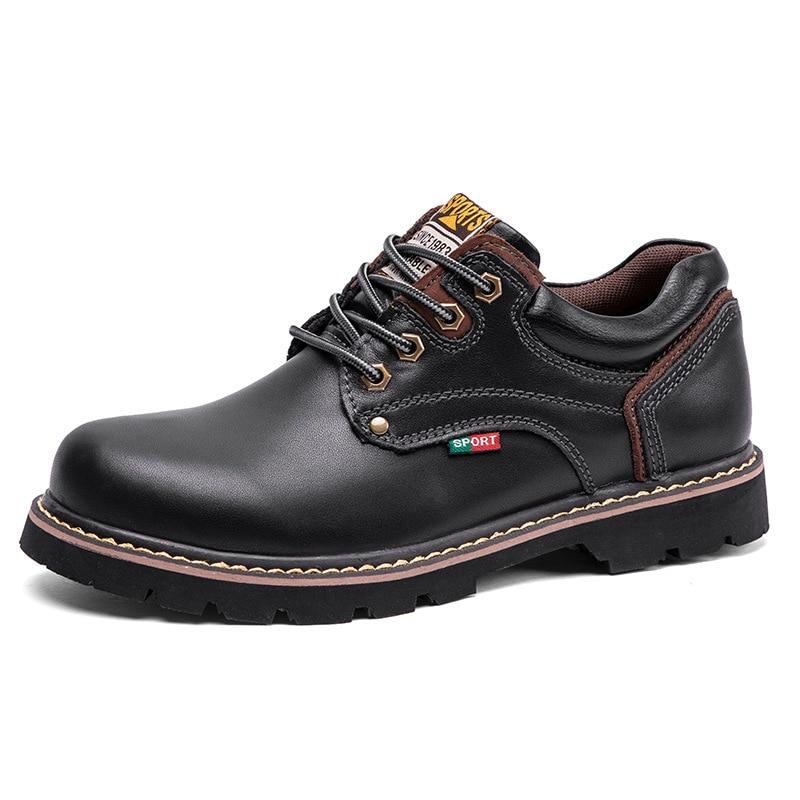 جلد حذاء امن للعمل للرجال مارتن الأحذية أحذية السلامة رجالي المضادة للثقب أحذية عمل الأحذية الجلدية الأحذية