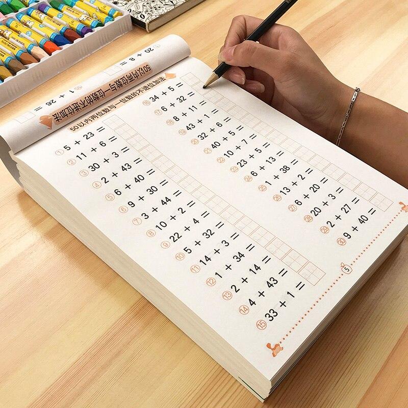 Jardín de Infantes practicar caligrafía ilustración aritmética caligrafía manuscrita cuaderno libro de matemáticas libro de ejercicios