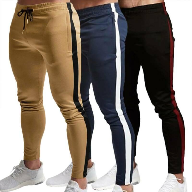 Мужской спортивный костюм, облегающие штаны для бега, тренировочные штаны, брюки