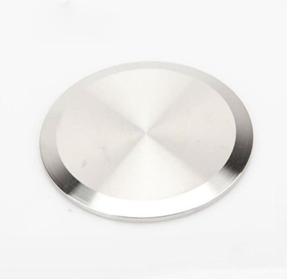 "3 ""OD 76mm Sanitary SS316L disco ciego tapas de brida se adapta a 3"" Tri abrazadera de montaje de tubería"