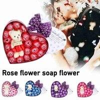 10 pieces boite Rose bain corps fleur savon fleur petale fleur essentielle saint valentin cadeaux fleurs artificielles decor a la maison mariage