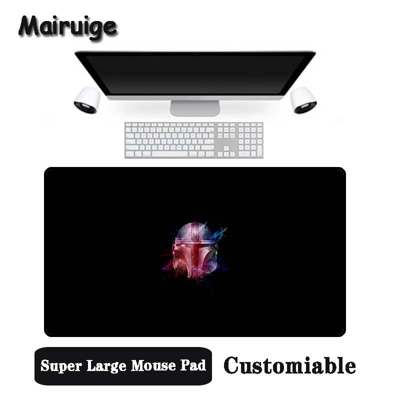 Mairuige gran promoción gran tamaño Multi-tamaño bloqueado ratón Pad casco en negro diseño de fondo PC ordenador portátil alfombra de escritorio