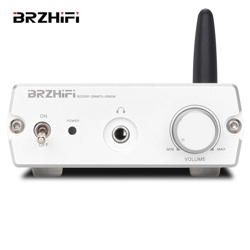 BRZHIFI بلوتوث استقبال الصوت ES9038 ضياع مرحبا فاي فك بلوتوث محول مضخم ضوت سماعات الأذن LDAC الناتج المحوري فك