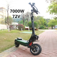 Flj 72 v 7000 w kick scooter elétrico com motor duplo de 11 polegadas motores gordura pneu elektro scooter adulto