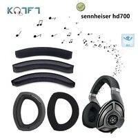 kqtft velvet replacement earpads head band protection for sennheiser hd700 hd 700 headset universal bumper earmuff cover cushion