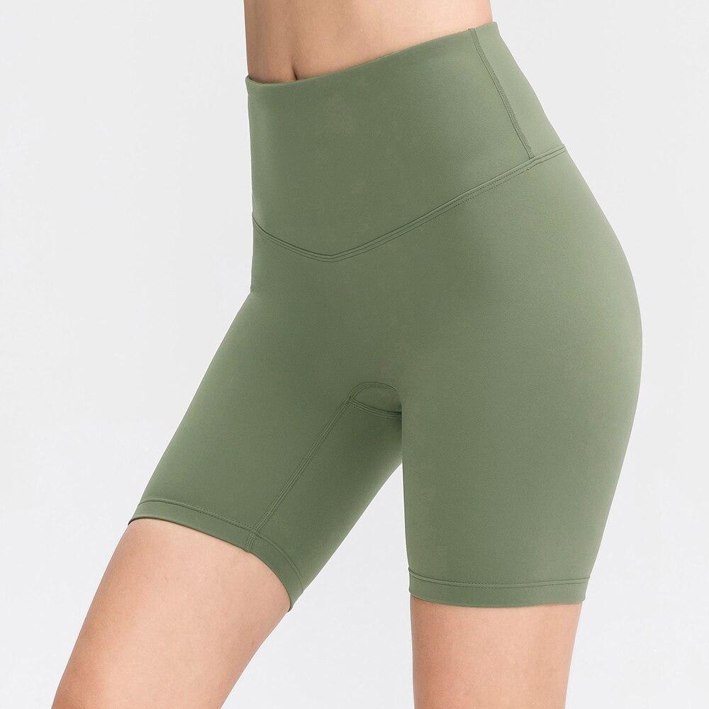 Women Fitness Yoga Shorts Breathable Yoga Short High Waist Gym Shorts Push Up Sports Shorts Energy Elastic Trousers Yoga Short