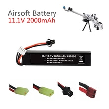 Batería Lipo de 11,1 v para pistola de agua Airsoft 11,1 V 3S 2000mAh 30C 452096 batería para Airsoft BB Air Pistol partes eléctricas de pistolas de juguete