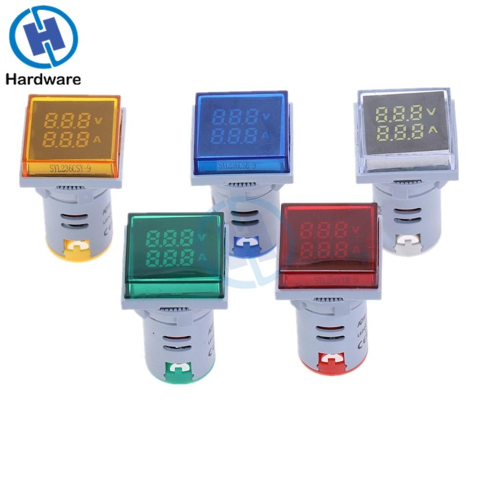 Neue Platz LED Digital Dual Display Voltmeter Amperemeter Spannung Gauge Strom Meter Messung AC 60-500V 0-100A