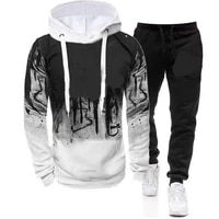 casual tracksuit men 2 pieces sets hooded sweatshirts spring autumn male pullover hoodies pants suit ropa hombre plus size s 4xl