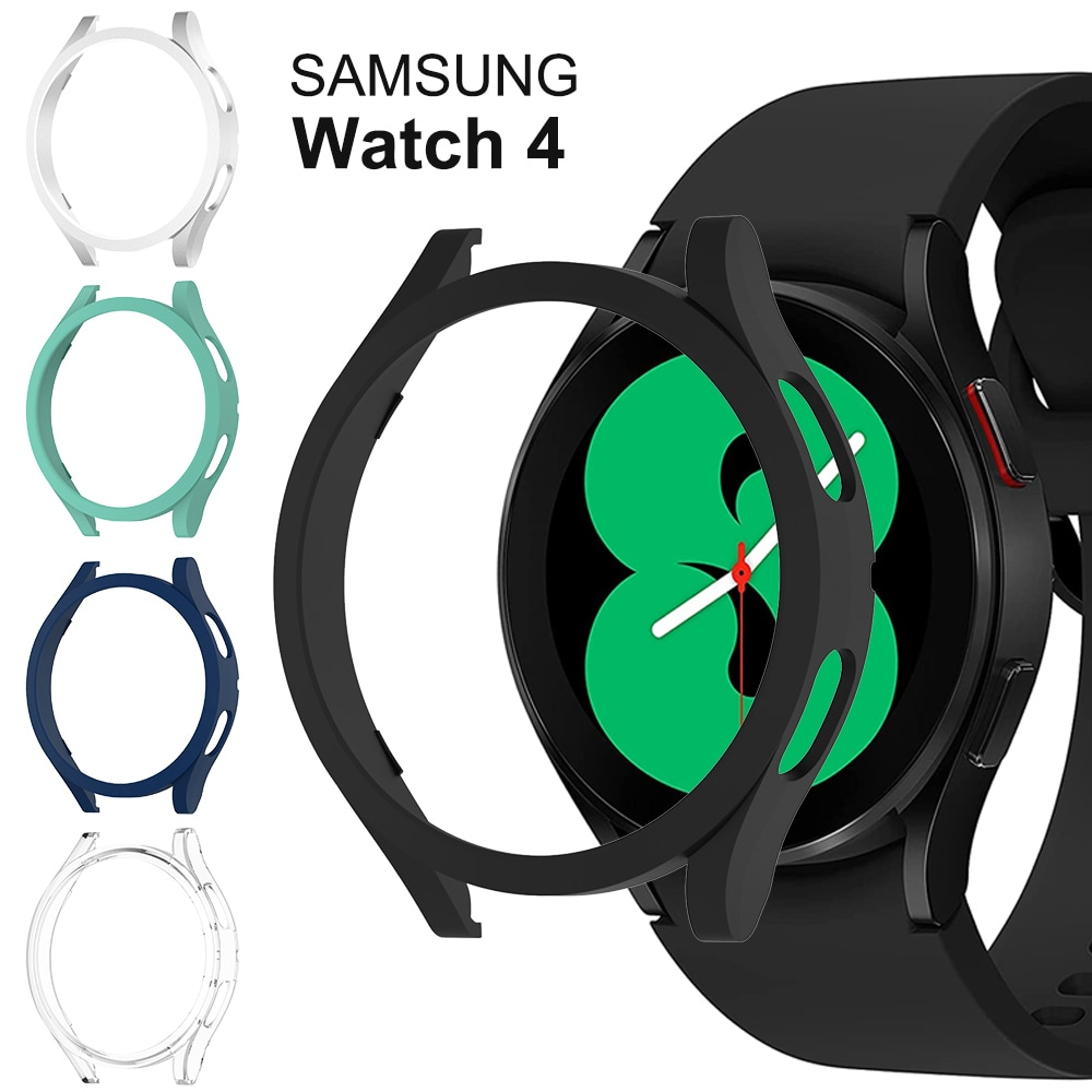 Watch Cover for Samsung Galaxy Watch 4 40mm 44mm,PC Matte Case All-Around Protective Bumper Shell fo