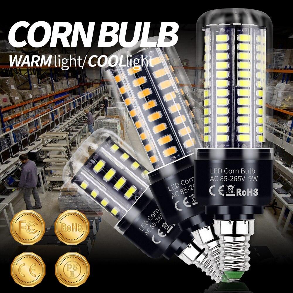 LED Light E27 Corn Lamp E14 Light Bulb B22 Spotlight 220V Halogen Lamp 3.5W 5W 7W 9W 12W 15W 20W LED 110V Candle Bulb Lighting
