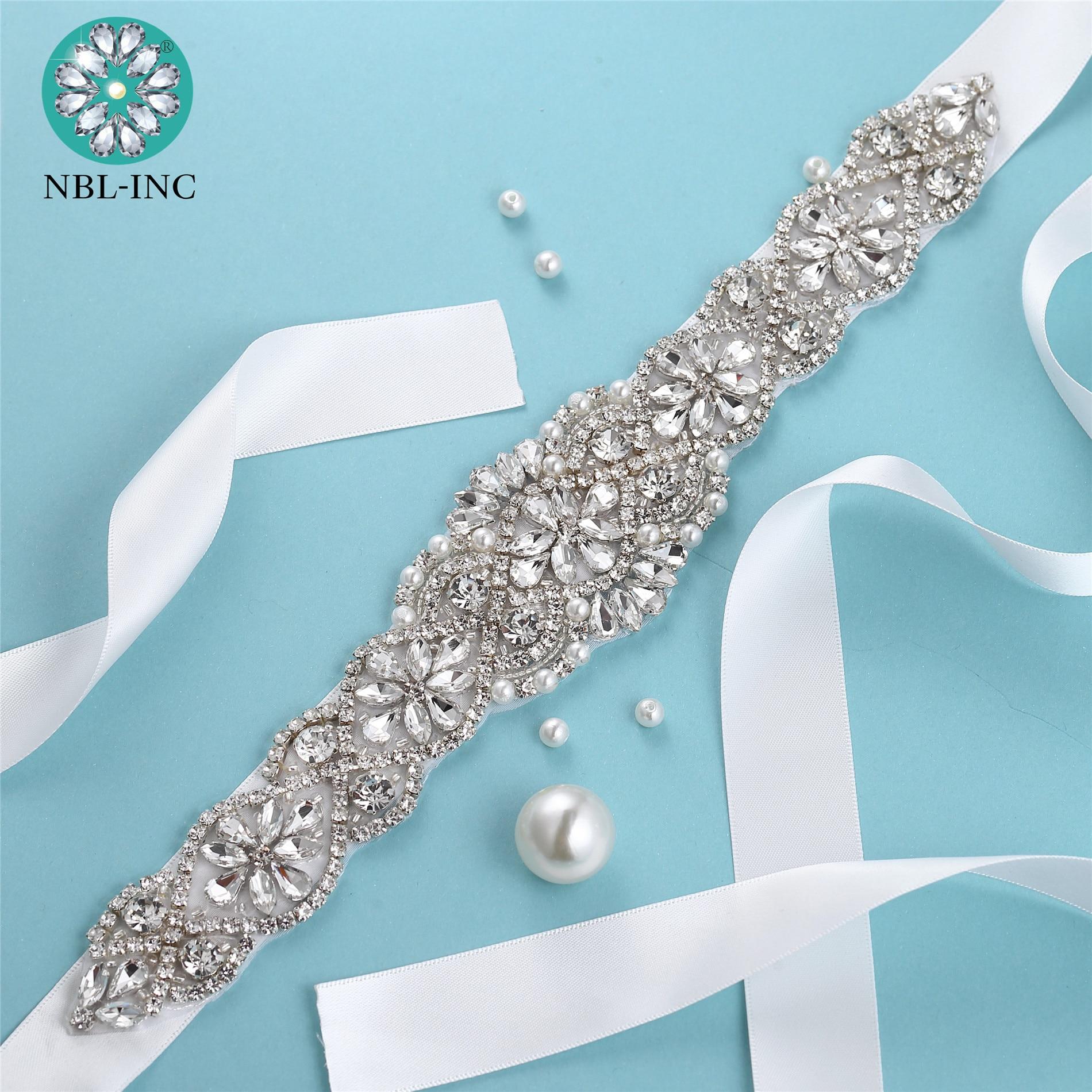 1pc vjenčani vjenčani vjenčani pojas s kristalnim dijamantnim - Vjenčanje pribor - Foto 6