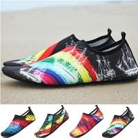 Chaussures deau respirantes en caoutchouc pour hommes et femmes  sandales de plage en amont  chaussettes de plongee  tennis mas