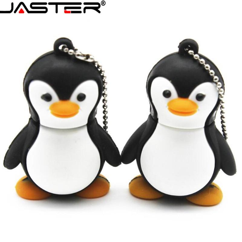 JASTER encantadora pingüino USB Flash Drive lindo animal de dibujos animados USB...