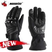 Зимние перчатки Masontex, мотоциклетные мужские водонепроницаемые перчатки с сенсорным экраном, мотоперчатки для мотокросса, внедорожные перчатки, мотоциклетные перчатки с полным пальцем