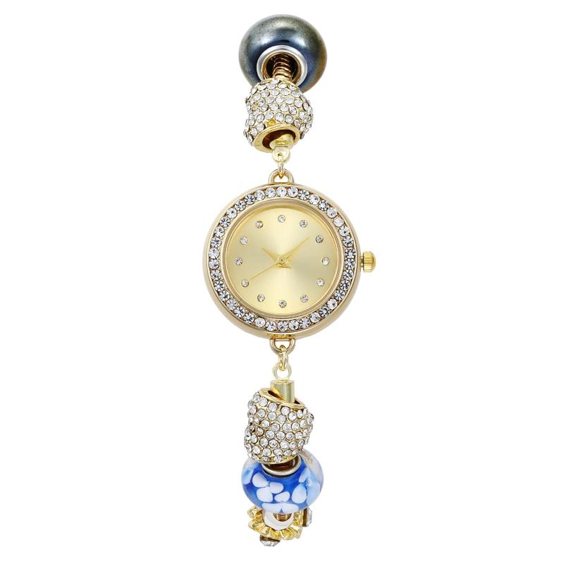 Reloj de lujo para mujer, reloj de porcelana azul y blanco, reloj de pulsera para mujer, reloj de pulsera de estilo chino para mujer