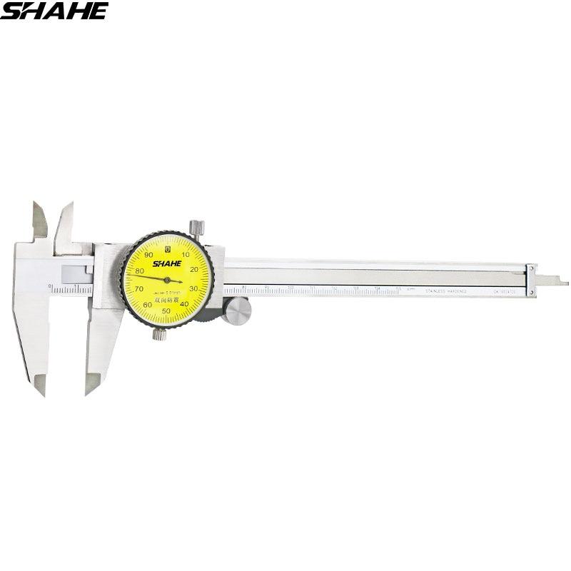 SHAHE 6'' zifferblatt sattel 0,01mm Shock-Proof Edelstahl Vernier Dial Messschieber Mikrometer