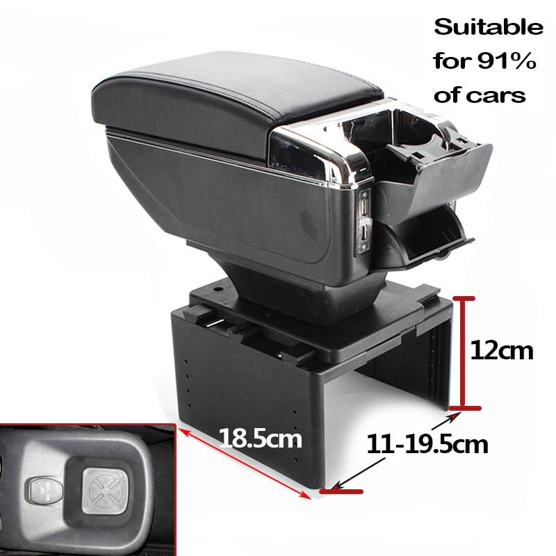 Para Nissan Chutes Caixa Braço caixa apoio de Braço Central Do Carro Universal de Couro PU Caixa de Armazenamento de Acessórios de Modificação