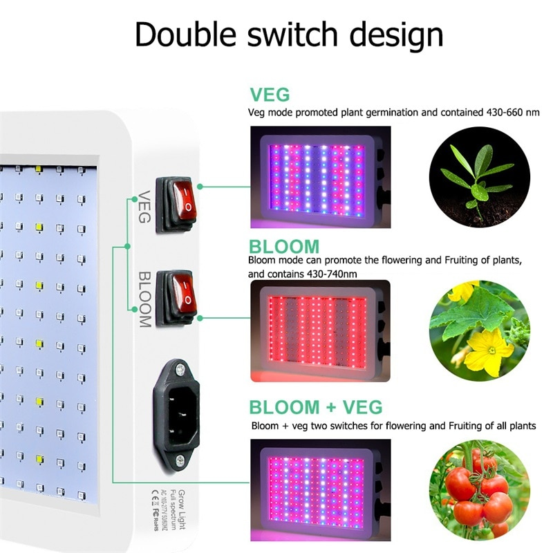 ORY Grow Lights LED Plant Growth Lamp Full Spectrum Quantum Waterproof IP65 for Potted Greenhouse Plant enlarge