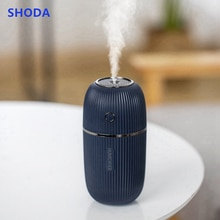 SHODA Car Humidifier Diffuser Portable Mini Cylinder Shape Big Capacity  300ml Mini USB Office / Car Use Air Humidifier